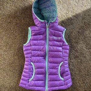 Purple and teal Free Country puffy vest -XS